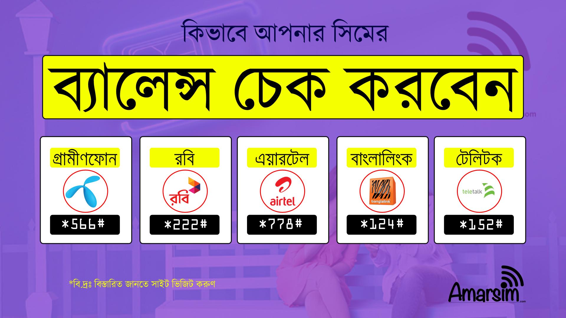 How To Check Account Balance In GP, Robi, Airtel, Banglalink, Teletalk